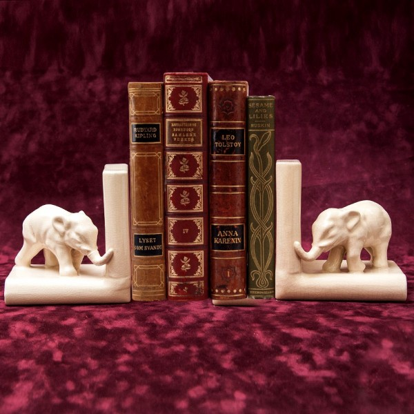 Винтажные Фаянсовые Держатели Подставки для книг «Слоны» Бельгия 50 -е годы ХХ век.