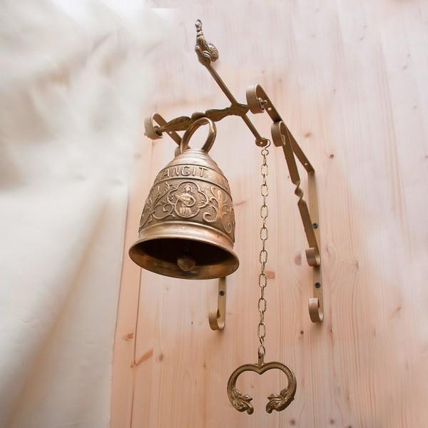 Большой Вызывной Настенный Дверной Колокольчик с кронштейном, Бронза, Бельгия 50-е гг.