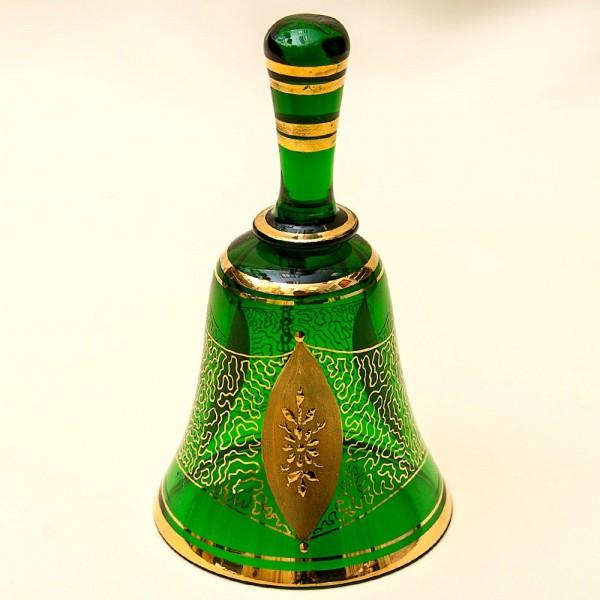 Винтажный Стеклянный Колокольчик «Зелёное Золото» LAUSITZER GLASWERKE Германия - 50-70е гг.