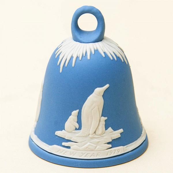 Фарфоровый Колокольчик «Пингвины» - «Новый год -1979» ВЕДЖВУД, WEGDWOOD, Англия.