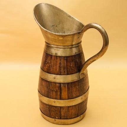 Кувшин Деревянный для Вина на 2 литра в Латунной обойме  Франция.