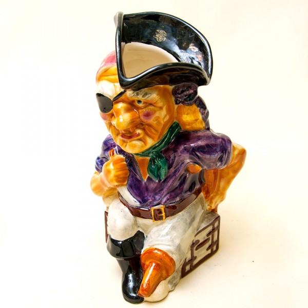 Коллекционный Пивной Кувшин «Пират - Джон Сильвер»,  Фаянс, Англия - 50-е годы ХХ века.