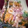 Большой Декоративный Кувшин-Ваза «Райский Сад» Фаянс Capodimonte Каподимонте Италия Н-53 см.