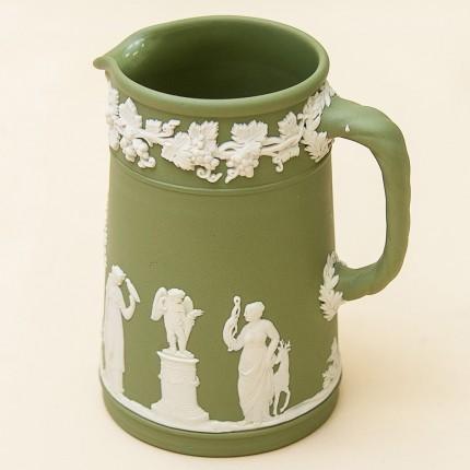 Кувшинчик - Молочник - Сливочник «Зеленый Антик» фарфор ВЕДЖВУД, WEGDWOOD, Англия -70гг.
