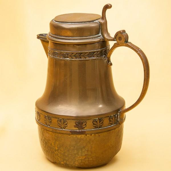 Винтажный Латунный Кофейник Кувшин Франция,  середина ХХ века!