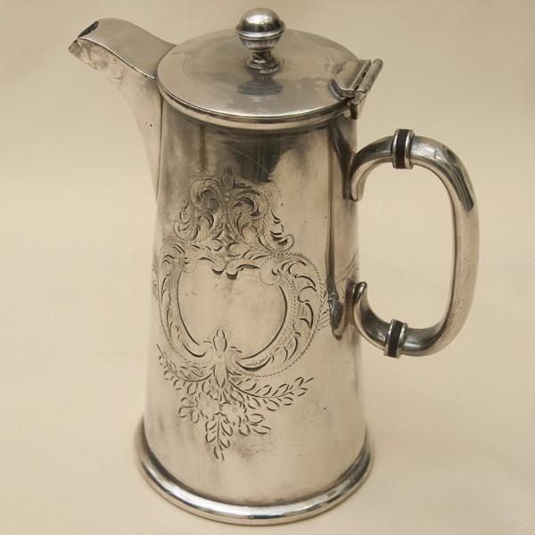 Редкость! Металлический Кофейник - Заварочный Чайник на 1 л. Silverplate, Англия 50-е гг.