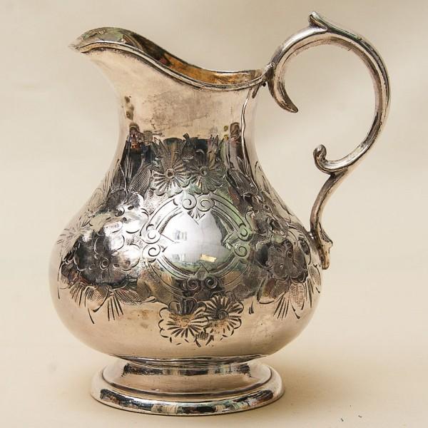 Винтажный Металлический Кувшин - Молочник - Сливочник. Silverplate,SHEFFIELD Англия 60-е годы ХХ века.