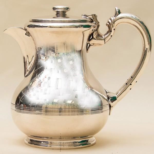 Классический Металлический Кувшин - Кофейник на 1,5 литра. Silverplate, Англия 60-е годы ХХ века.