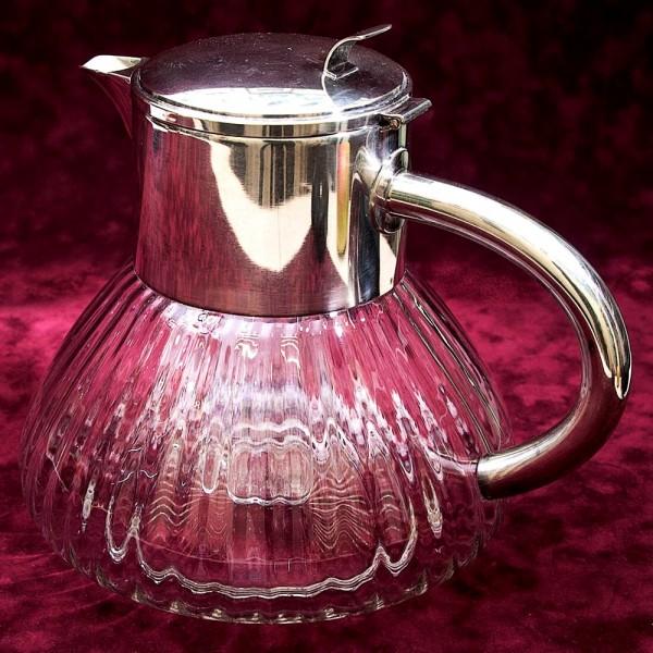Графин - Кувшин - Декантер - 4 литра. Колба для льда, Хрусталь, Silverplate Германия.