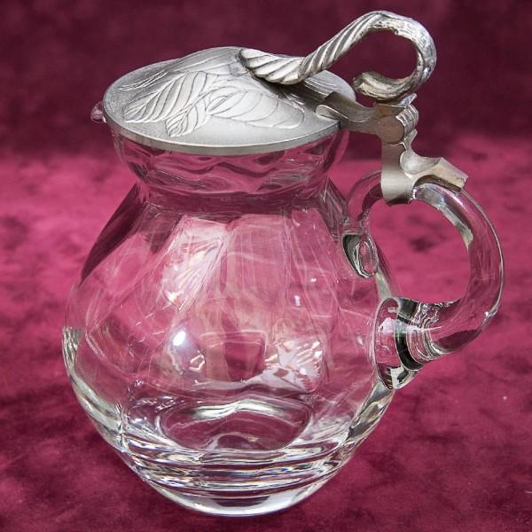 Винтажный Стеклянный Кувшин с крышкой на 1 литр, Графин, Декантер WMF Crystal Cabinet Германия.