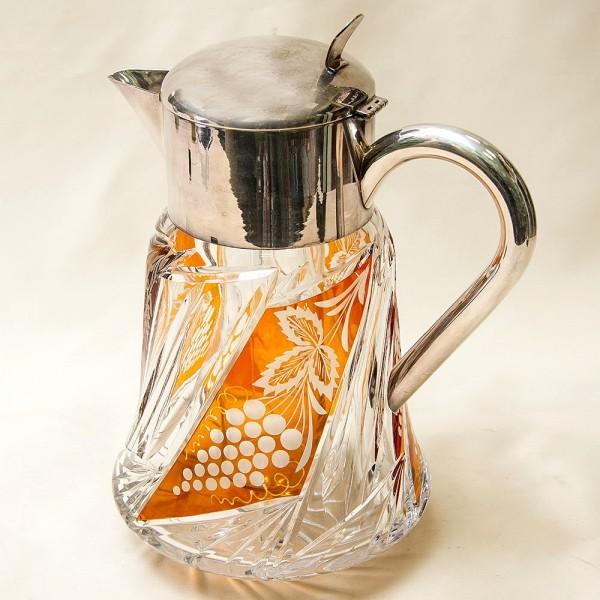 «Виноград» - Хрустальный Графин - Кувшин - Декантер  с Колбой для льда, Германия - 3 литра.