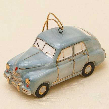Новогодние Фарфоровые Ёлочные игрушки - Ретро Автомобиль «Победа» - Стилизация «Мы родом из СССР».
