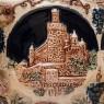Крюшонница - Горшок для Глинтвейна «Старинные Замки» + 4-е Кружки Фаянс Германия