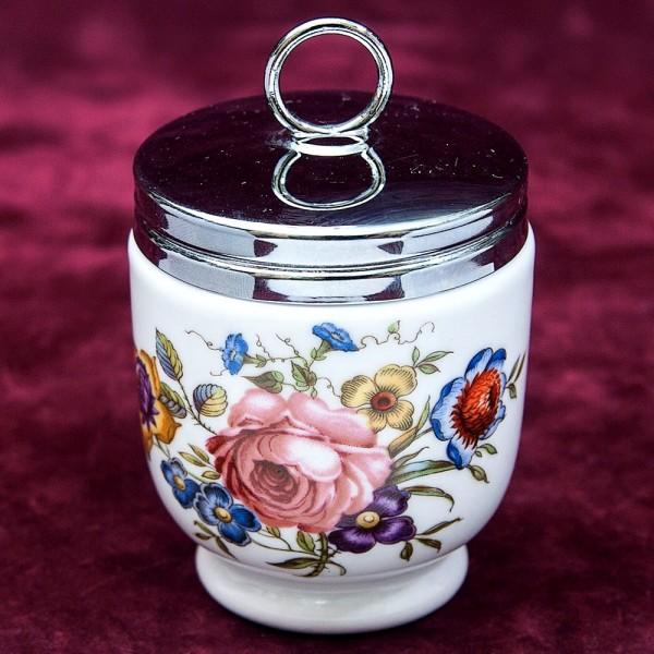 Фарфоровый Кодлер «Английская Роза» на 2 яйца,  ROYAL WORCHESTER, Англия.