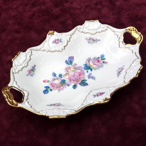 Сервировочное  Блюдо из коллекции «Розовый Сад» Фарфор KAISER Германия -1958 -1960 годы.
