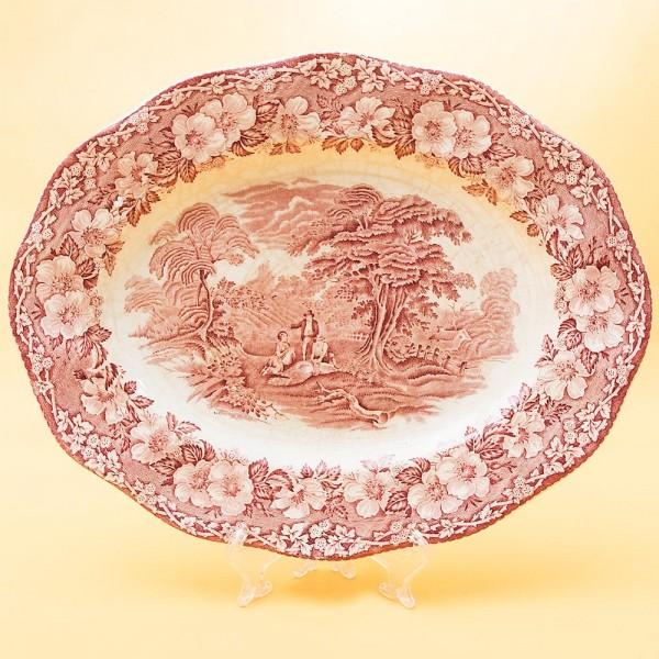 Настенное Декоративное Блюдо - Тарелка  Фарфор, WEDGWOOD, Англия начало ХХ века.