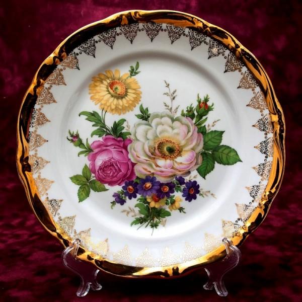 Коллекционное Сервировочное Блюдо - Тарелка «Летние Краски» Фарфор GLORIA Германия.