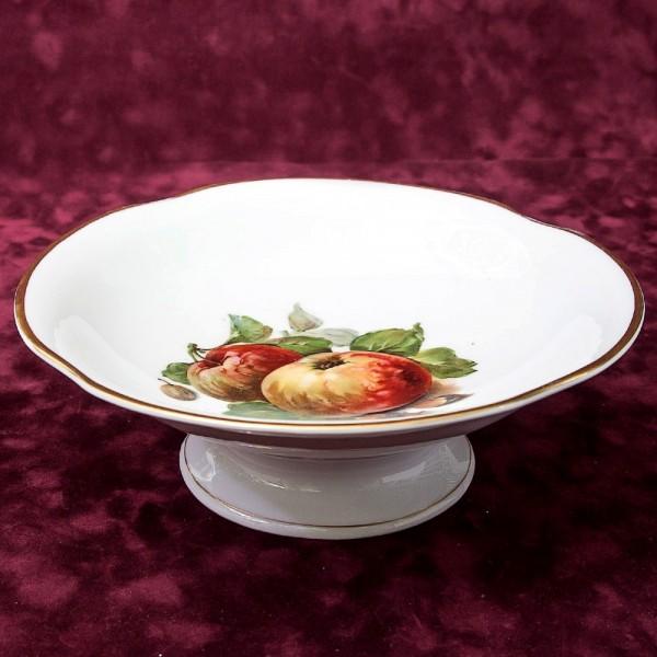 Антикварное Сервировочное Блюдо - Тарелка «ЯБЛОКИ» Фарфор Altwsser Carl Tielsch Германия.