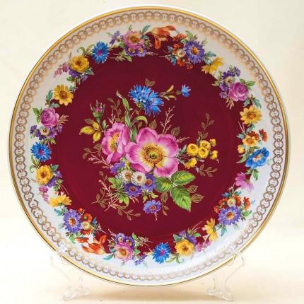 Большое Сервировочное Блюдо «Летняя Роскошь» Фарфор Rudolf Wachter Германия, 60-е годы ХХ века.