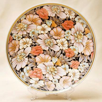 Коллекционная Авторская  Тарелка - Блюдо «Цветы» Фарфор KAISER Германия.