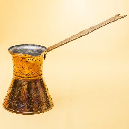 Классическая Арабская Джезва - Турка для кофе на 200 мл. - Латунь - середина ХХ века.