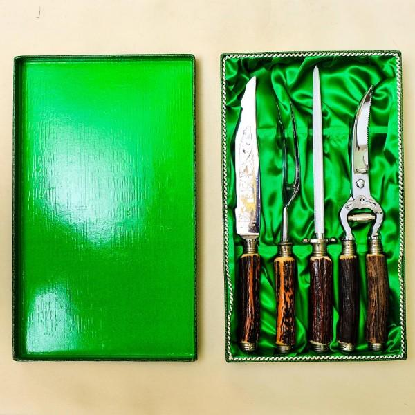 Набор для Барбекю «Охота» - 4 предмета, Германия, ANTON WINGER Solingen, 50 -е гг.