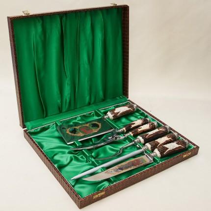 «Охота» - Набор для Барбекю -5 предметов, Германия, CARL STOKER Solingen, 60 -е годы ХХ века.