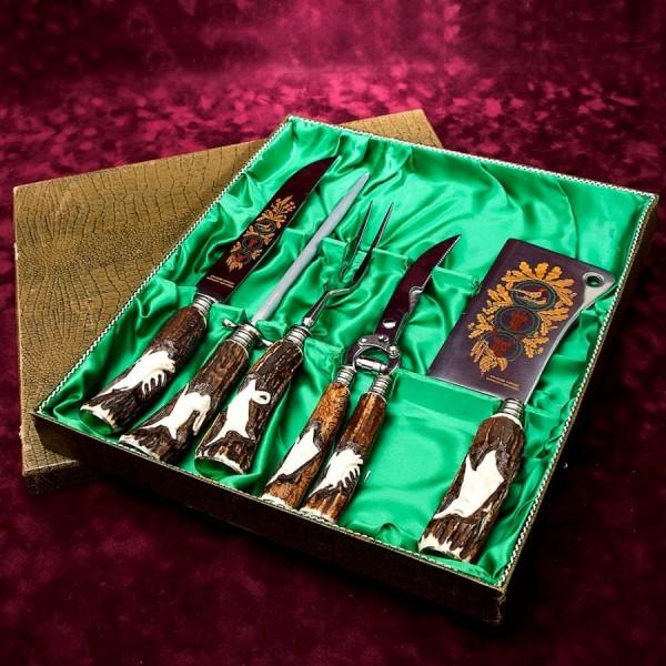 Набор для Барбекю «Охота» - 5 предметов, Германия, CARL STOKER Solingen, 60 -е годы ХХ века.