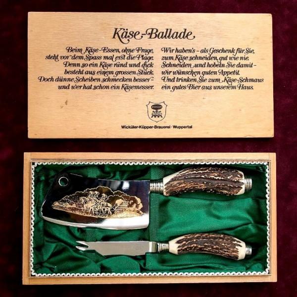 «Охота» - Набор для разделки дичи в деревянной коробке, Германия, Wickuler Solingen, 80 -е гг.