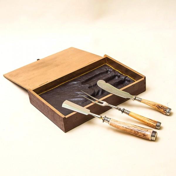 Набор для Закусок «Охота» - 3 предмета, Германия, ANTON WINGER Solingen, 50 -е годы ХХ века.