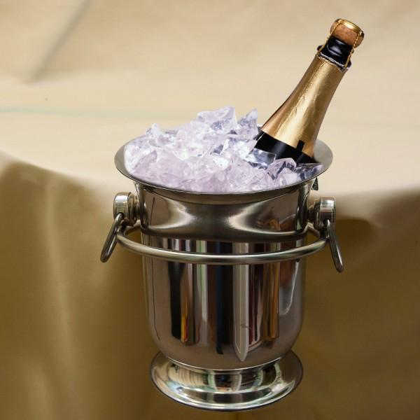 Ведёрко для охлаждения шампанского или вина с кронштейном крепления на стол, Silverplate Бельгия.
