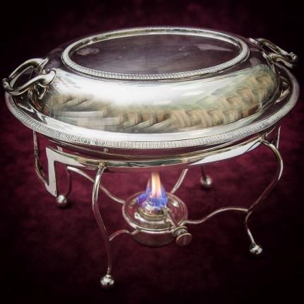 Судок - Блюдо для сервировки и подачи готовых блюд SHEFFIELD Англия Мелталл Silverplate 50гг.