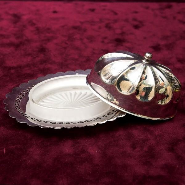 Масленка - Паштетница - Икорница, SHEFFIELD Англия Silverplate, 60 -е годы ХХ века.