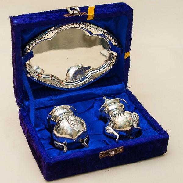 Набор для специй на подносе, SHEFFIELD Англия Silverplate, 60 -е годы ХХ века.