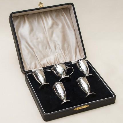 Набор для Специй из 5-ти предметов, I.S.Greedberg & Co.Бирмингем Англия, Silverplate, 50-е годы ХХ века.