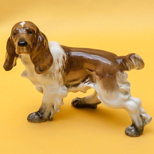 Фарфоровая Статуэтка Собака, «СПАНИЕЛЬ», Hutschenreuther,  Германия, 70-е годы ХХ века.