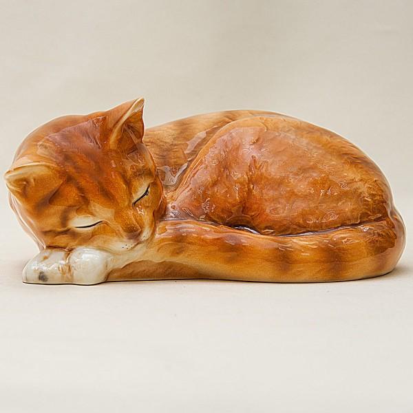Кошка - Фарфоровая Статуэтка «Спящий Клубочек», GOEBEL, Германия - 1979 год.