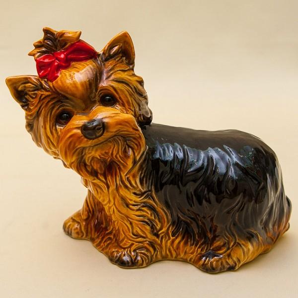 Собака - Фарфоровая Статуэтка «ЙОРКШИРСКИЙ ТЕРЬЕР», GOEBEL, Германия - 1971 год.