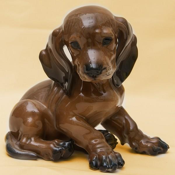 Редкая Фарфоровая Статуэтка Собака «ТАКСА» Н -16 см., ROSENTHAL,  Германия, 70-е годы ХХ века.