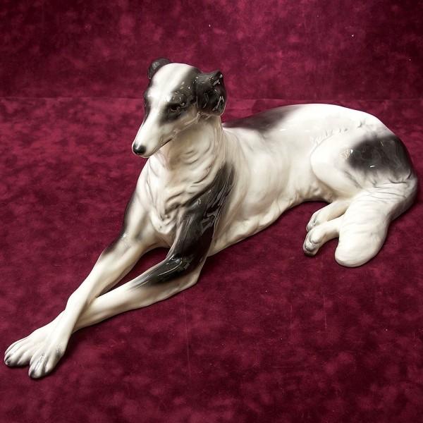 Редкость!!! Большая Фаянсовая Статуэтка «Собака - ГОНЧАЯ», Goldscheider, Австрия, 30-е гг.