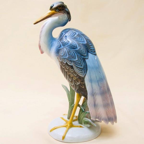 Редкость!!! Птица - Фарфоровая Статуэтка «Большая ЦАПЛЯ» ROSENTHAL Германия -1974 год.