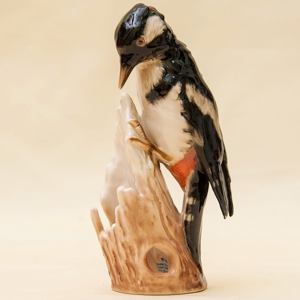 РЕДКАЯ!!! Птица - Фарфоровая Статуэтка «ДЯТЕЛ», GOEBEL, Германия - 1972 год.