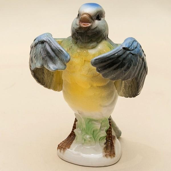Птица - Фарфоровая Статуэтка «Синица - Весенняя Песня», GOEBEL, Германия - 1979 год.