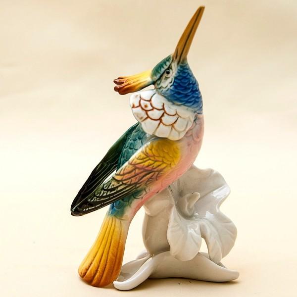 Коллекционная Статуэтка «Райская Птица» Н -16см. Фарфор  Карл Энц / Karl Enz  Германия 50-е гг.
