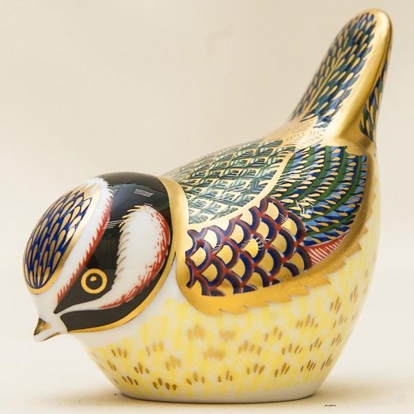 Коллекционное Пресс - Папье, Фарфоровая Статуэтка «Птица - Синичка», Royal Crown Derby,  Англия.