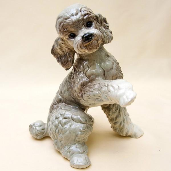 Большая Фарфоровая Статуэтка Собака «ПУДЕЛЬ», GOEBEL, Германия - 1979 год.