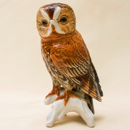 Птица - Фарфоровая статуэтка «Большая Сова», Карл Энц / Karl Enz,  Германия, 50-е годы ХХ века.