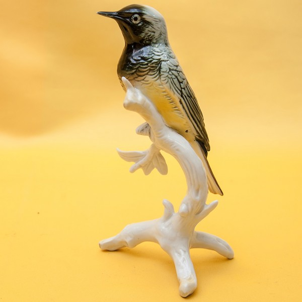 Птица - Статуэтка «Синичка на веточке», Фарфор Карл Энц / Karl Enz,  Германия, 50-е годы ХХ века.