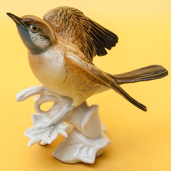 Птица - Фарфоровая статуэтка «ВАРАКУШКА», Карл Энц / Karl Enz,  Германия, 50-е годы ХХ века.