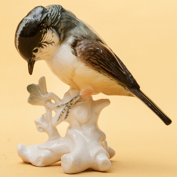 Птица - Фарфоровая статуэтка «Синица», Карл Энц / Karl Enz,  Германия, 50-е годы ХХ века.